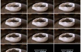 4K实拍视频素材丨特写掉落的绿茶茶叶
