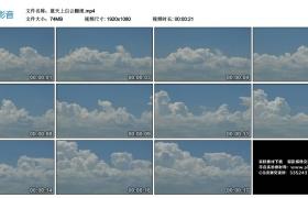 高清实拍视频丨蓝天上白云翻滚