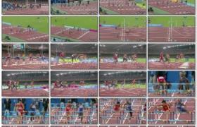 [高清实拍素材]刘翔04年雅典奥运会夺冠(NBC)