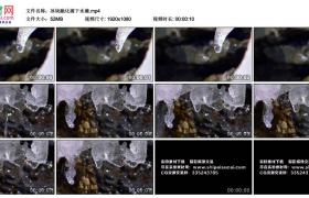 高清实拍视频丨冰块融化滴下水滴