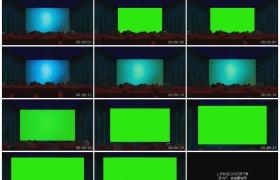 高清实拍视频素材丨电影院里观众看着荧幕上的电影