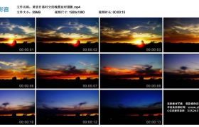 高清实拍视频丨黄昏日落时分的晚霞延时摄影