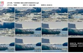 高清实拍视频丨气候变暖冰川融化后漂浮在海面的浮冰