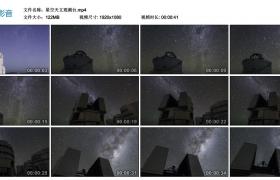 【高清实拍素材】星空下的天文观测台
