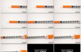 高清实拍视频素材丨摇摄白色桌面上的胰岛素注射器
