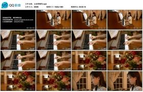 【高清实拍素材】女孩弹钢琴