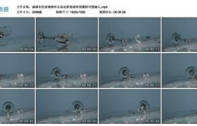 高清实拍视频丨盛满水的玻璃酒杯从高处跌落破碎四溅特写慢镜头