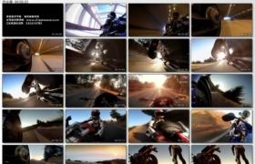 [高清实拍素材]飞驰的摩托车