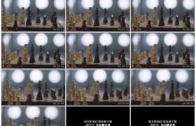 高清实拍视频素材丨移摄棋盘上的国际象棋棋子
