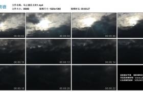 高清实拍视频素材丨乌云遮住太阳1