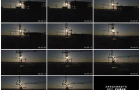 4K实拍视频素材丨航拍城市建筑工地上高耸的塔吊