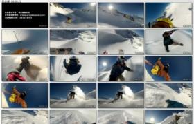 [高清实拍素材]滑雪一组