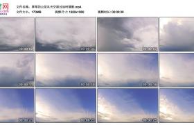 高清实拍视频丨厚厚的云层从天空掠过延时摄影