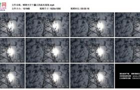 高清实拍视频丨晴朗天空下矗立的高压线架