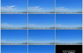 高清实拍视频素材丨城市上空蓝天上白云流动延时摄影