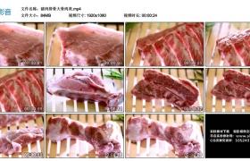 高清实拍视频素材丨猪肉排骨大骨肉类