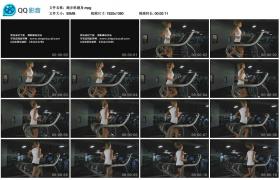 [高清实拍素材]跑步机健身