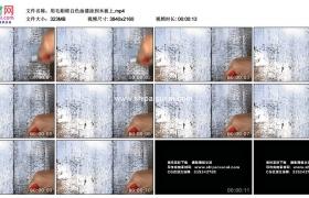4K实拍视频素材丨用毛刷将白色油漆涂到木板上
