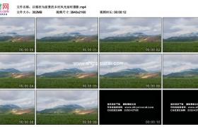 4K实拍视频素材丨以稻田为前景的乡村风光延时摄影