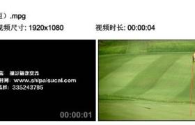 [高清实拍素材]高尔夫标旗(很短)