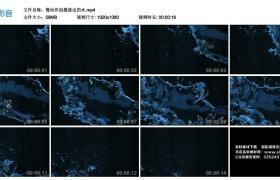 高清实拍视频丨慢动作拍摄泼出的水