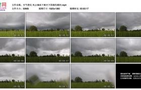 高清实拍视频素材丨天气变化 风云涌动下雨天下的绿色稻田