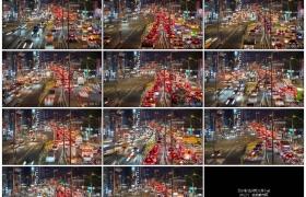 4K实拍视频素材丨台北夜晚的街头车来车往