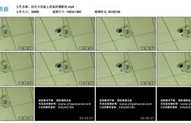 高清实拍视频素材丨挂在天花板上的监控摄影机