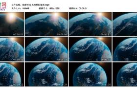 高清实拍视频丨地球转动 太阳照射地球