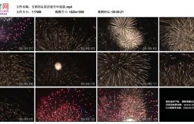高清实拍视频素材丨五彩的礼花在夜空中绽放