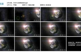 高清实拍视频丨宇宙中太阳照射地球