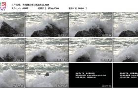高清实拍视频素材丨海浪撞击礁石溅起水花