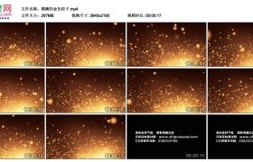 4K动态视频素材丨模糊的金色粒子