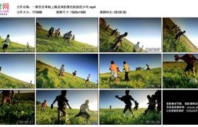 高清实拍视频素材丨一群在在草地上踢足球的黑色肌肤的少年