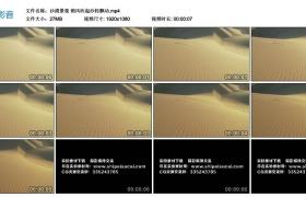 高清实拍视频丨沙漠景观 朔风吹起沙粒飘动