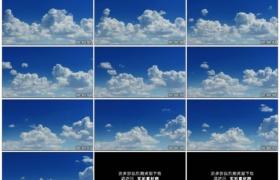 4K实拍视频素材丨晴天蓝色天空上白云翻滚涌动延时摄影