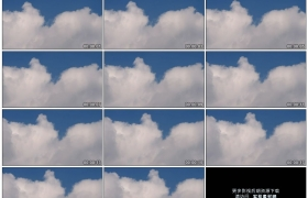 4K实拍视频素材丨蓝天上厚厚的白云流动延时摄影