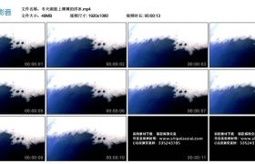 高清实拍视频丨冬天湖面上薄薄的浮冰