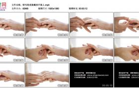 高清实拍视频素材丨特写将戒指戴到手指上