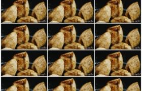 高清实拍视频素材丨特写用油煎炸鸡块