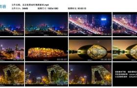 【高清实拍素材】北京夜景延时视频素材
