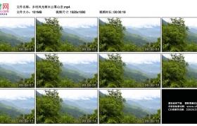 高清实拍视频素材丨乡村风光树木云雾山峦