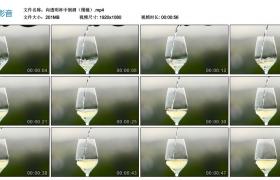 高清实拍视频素材丨向透明杯中倒酒(慢镜)