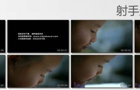 [高清实拍素材]小女孩侧脸特写