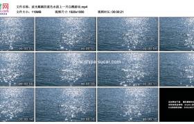 高清实拍视频素材丨波光粼粼的蓝色水面上一只白鹅游动超级慢镜头