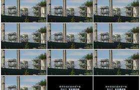 4K实拍视频素材丨防护栏内的电力变电站
