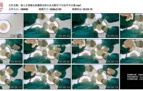 4K实拍视频素材丨病人主观镜头拍摄四名医生在无影灯下讨论手术方案