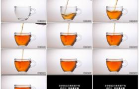 高清实拍视频素材丨将泡好的茶水倒入透明茶杯