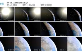 高清实拍视频丨太阳照射旋转的地球
