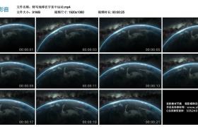 高清实拍视频丨特写地球在宇宙中运动